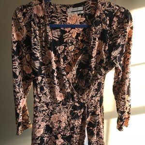 URBAN OUTFITTERS Black/Nude Floral Romper Size S